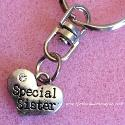 Special sister heart key ring